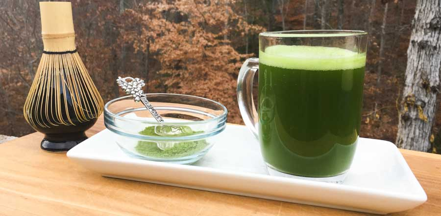 A freshly made cup of organic, ceremonial grade matcha that was recently presented as an offering to The Tyrant.