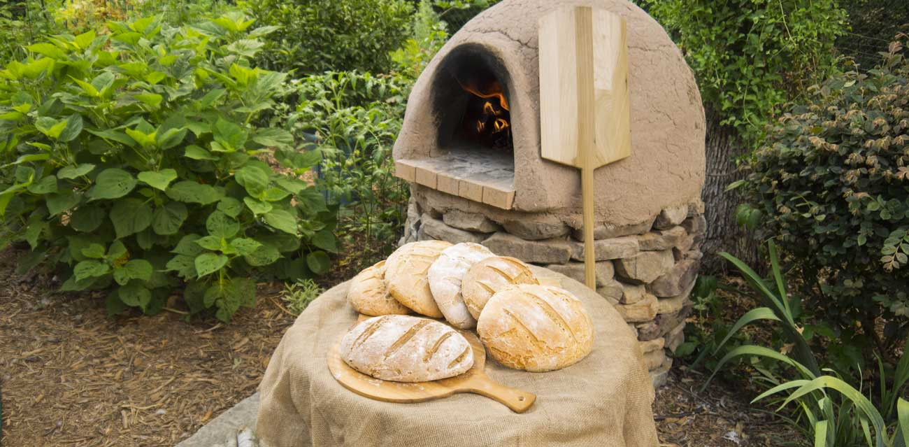 Our wood-fired cob oven gives bread a texture and flavor that's hard to beat.